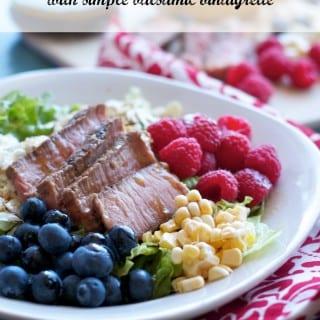 Day 13: Get Some Sleep & Round Steak Salad with Simple Balsamic Vinaigrette