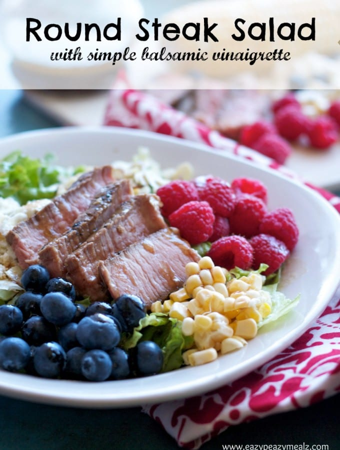 Day 13: Get Some Sleep & Round Steak Salad with Simple Balsamic Vinaigrette