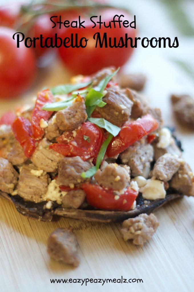 Day 14: Take a Break & Steak Stuffed Portabello Mushrooms - Easy ...