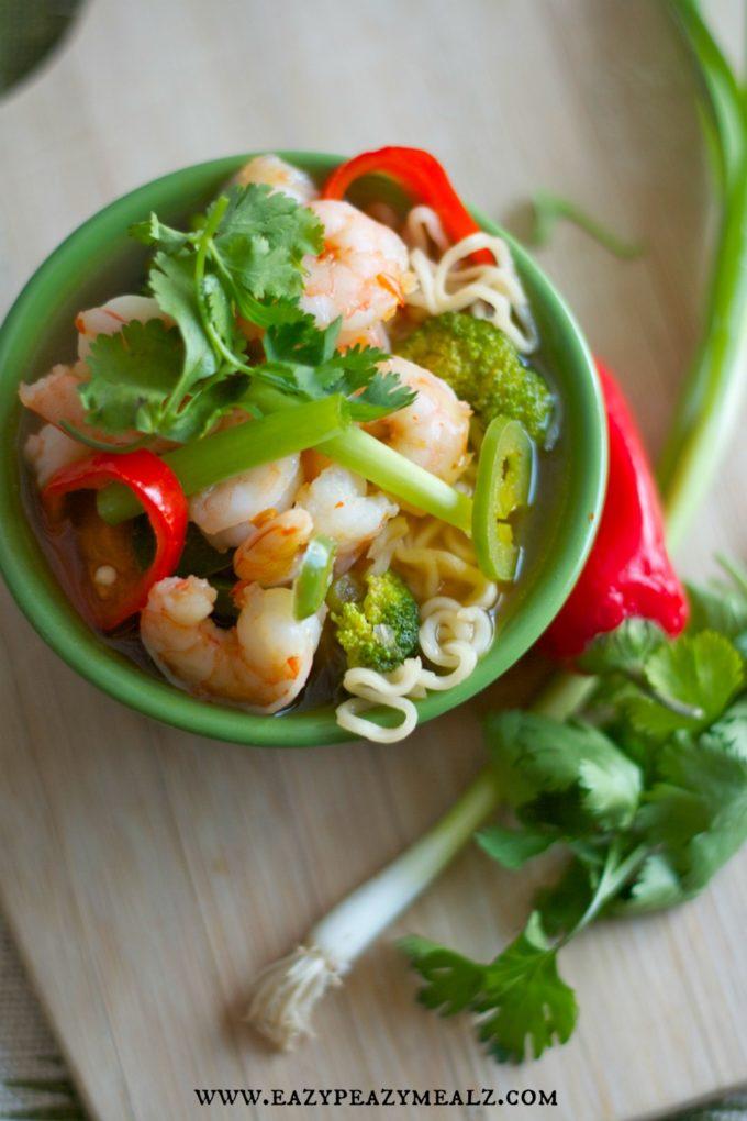 thai shrimp noodle bowl
