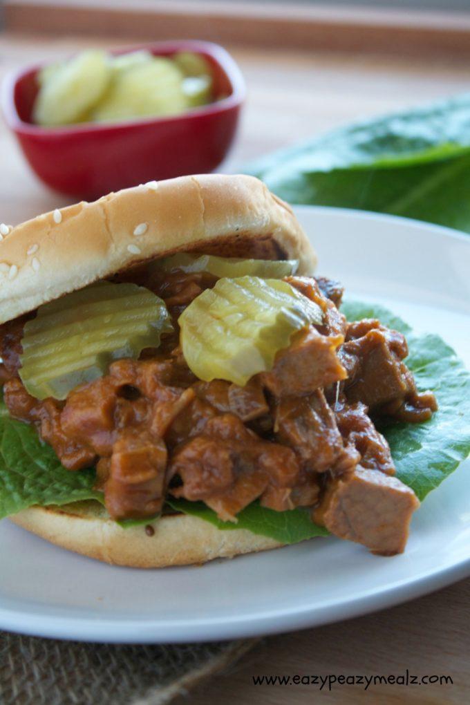 BBQ beef sandwich