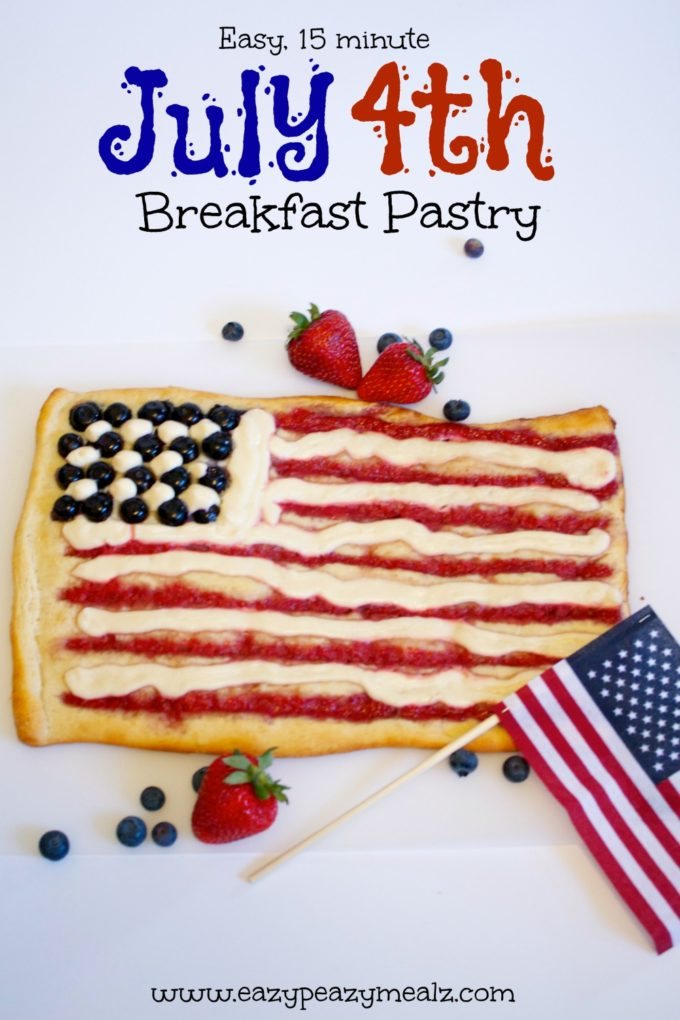 July 4th breakfast pastry