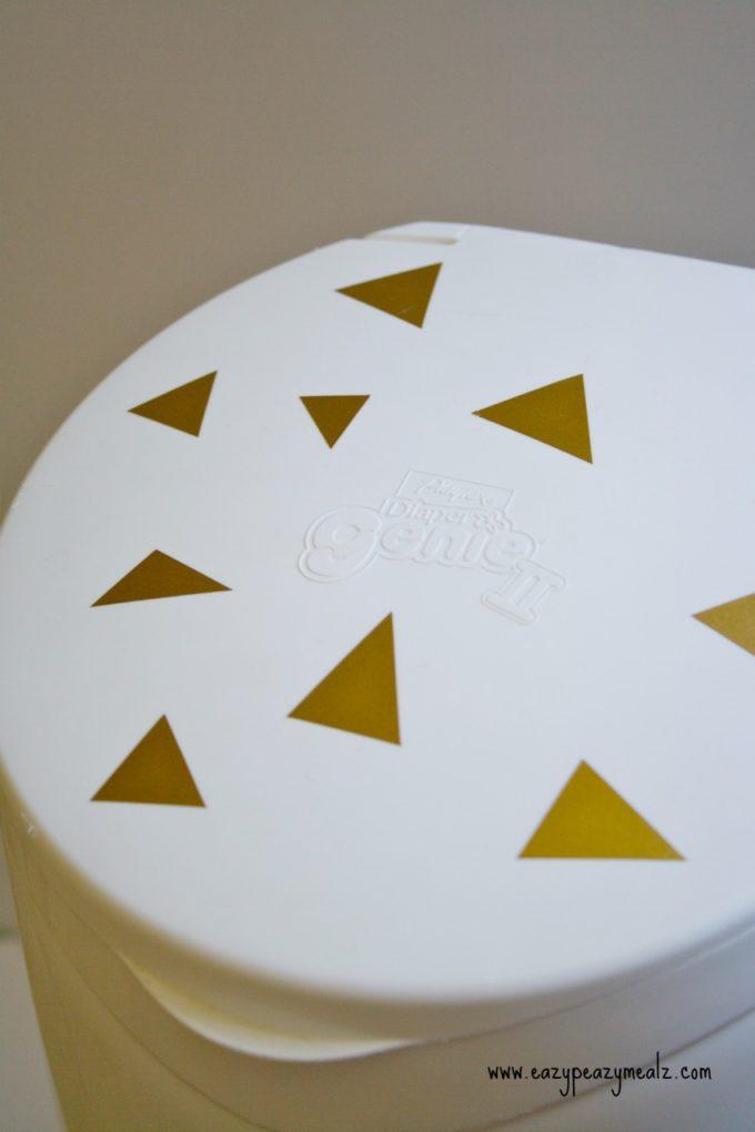 gold triangle diaper genie
