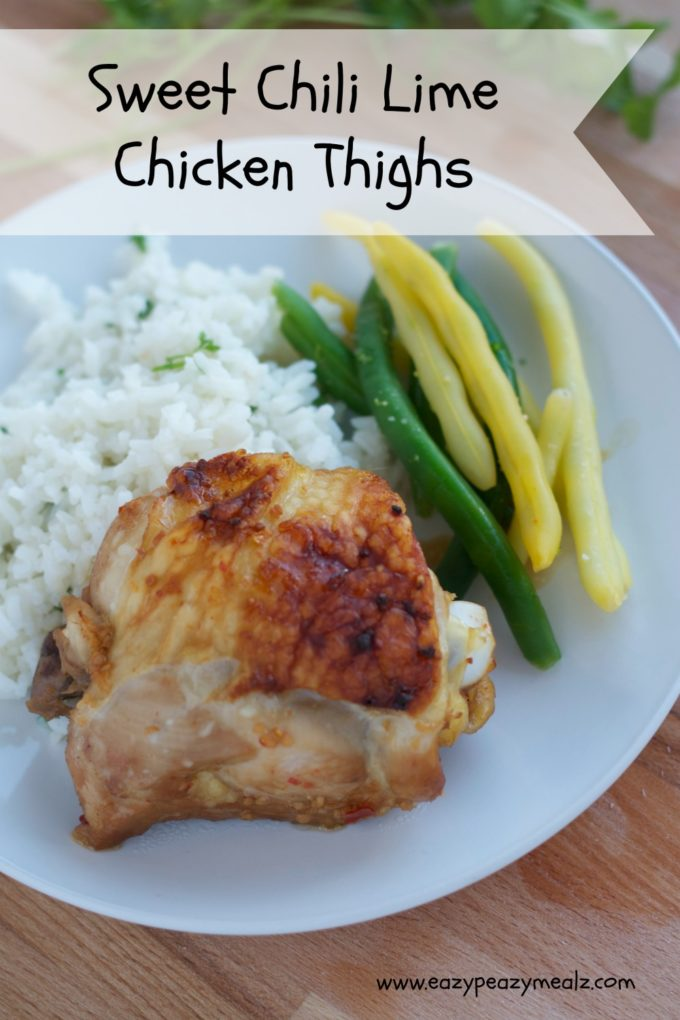 Sweet Chili Lime Chicken Thighs - Eazy Peazy Mealz