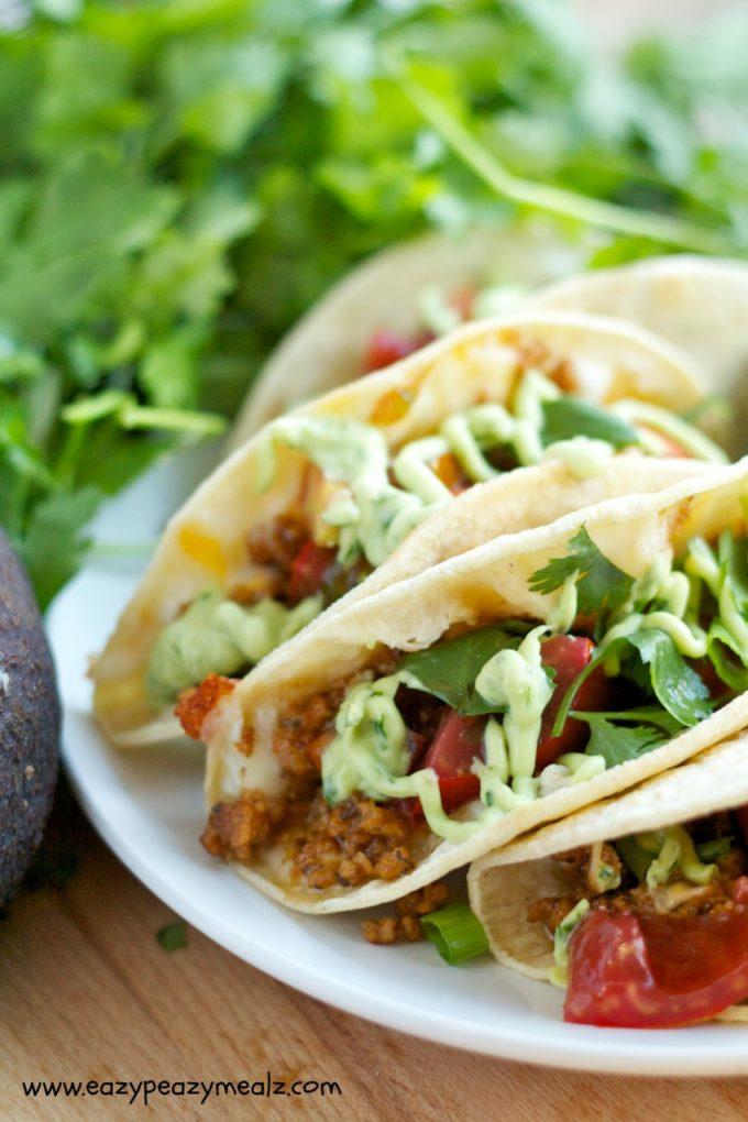 BeyondMeat griddle tacos