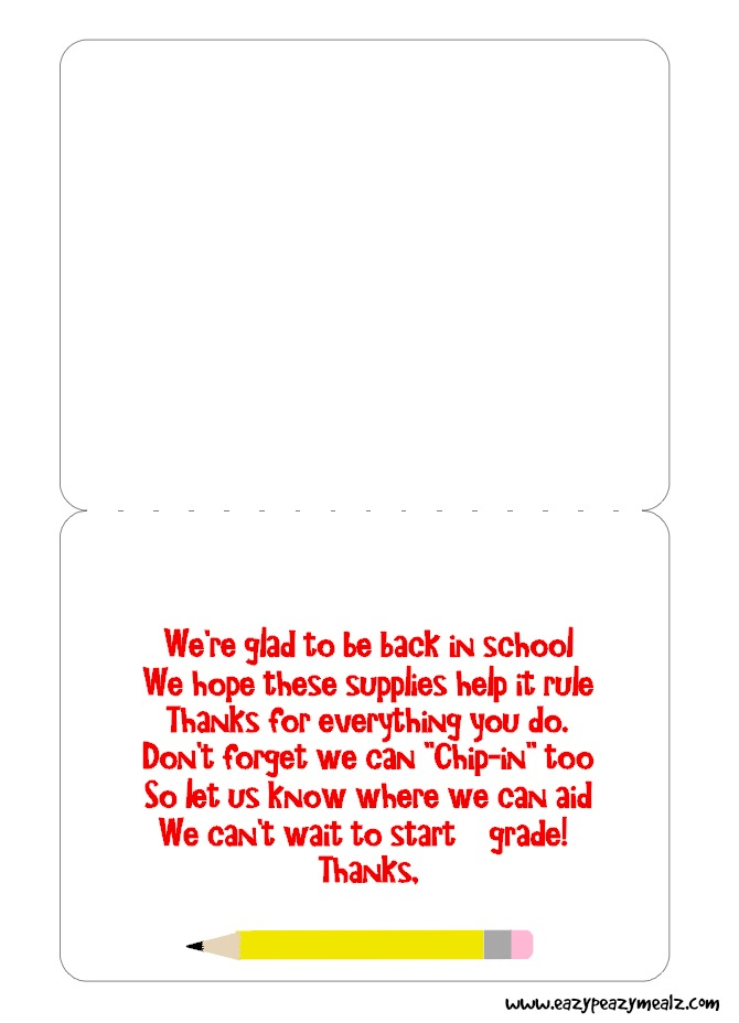 """Back-To-School """"Chip-In"""" Teacher's Gift with Office Max ..."""