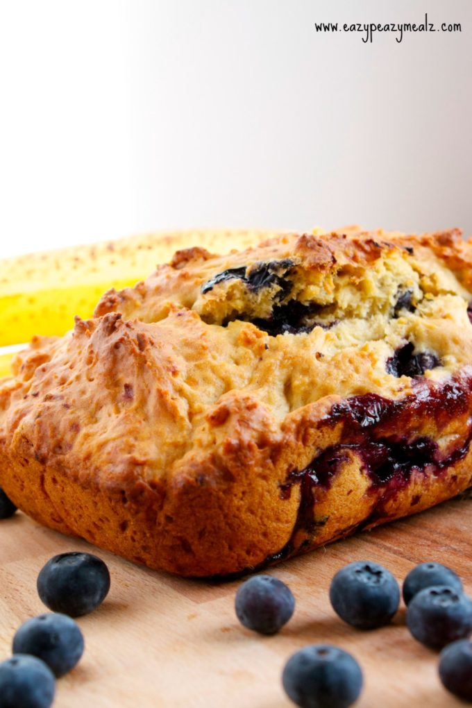 blueberry banana bread loaf