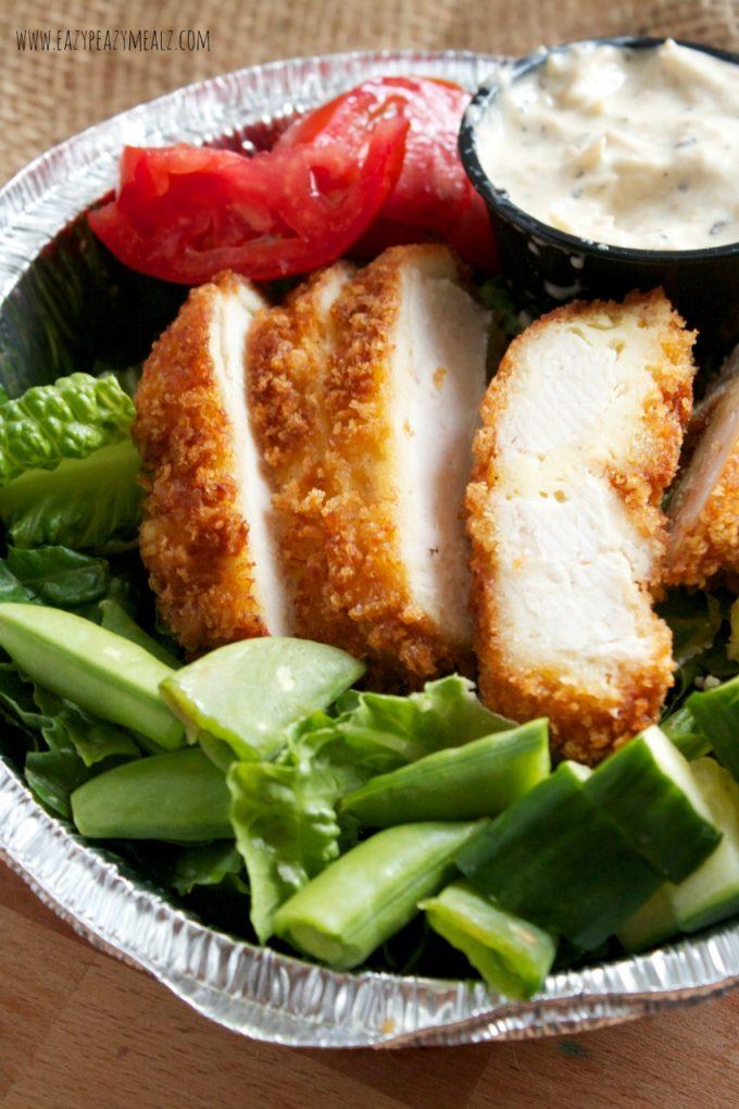 buttermilk ranch and creamy chicken chop salad