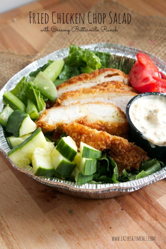 fried chicken chop salad