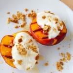 grilled breakfast nectarines