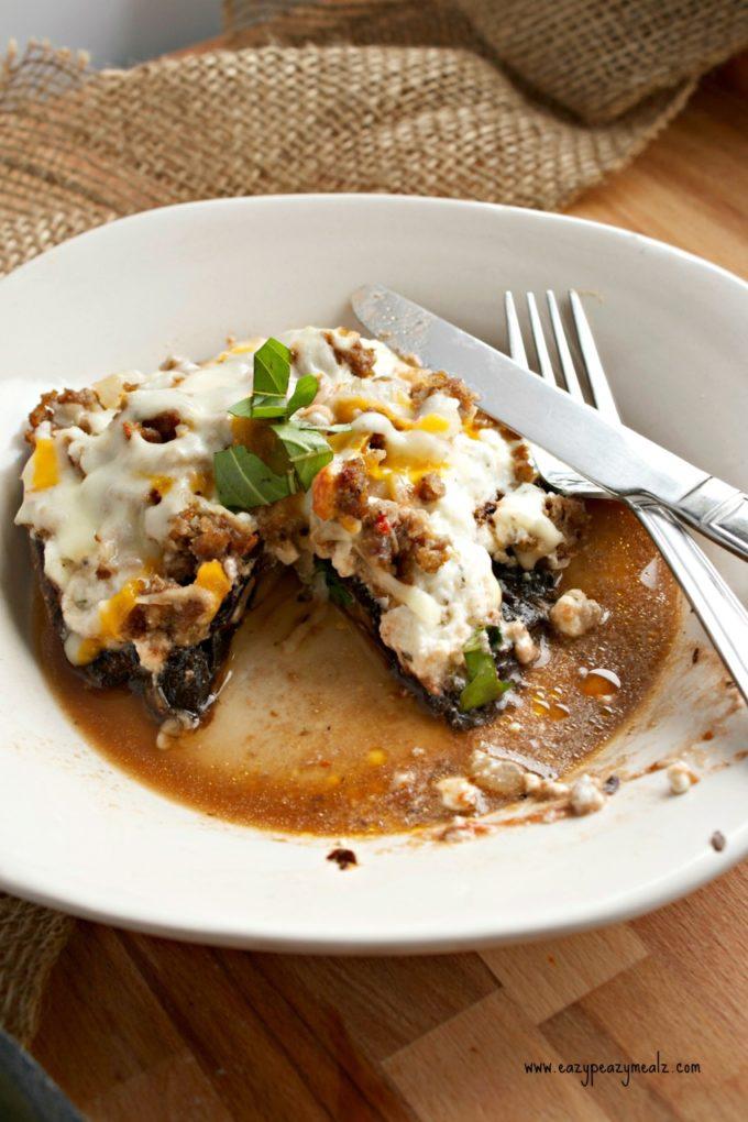 lasagna stuffed mushrooms