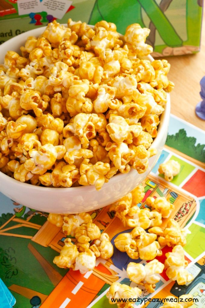 Perfect Popcorn for Q's Race to the Top Game Night - Eazy Peazy Mealz