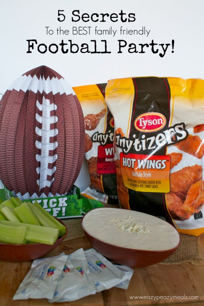5 Secrets to The Best Family Friendly Football Party
