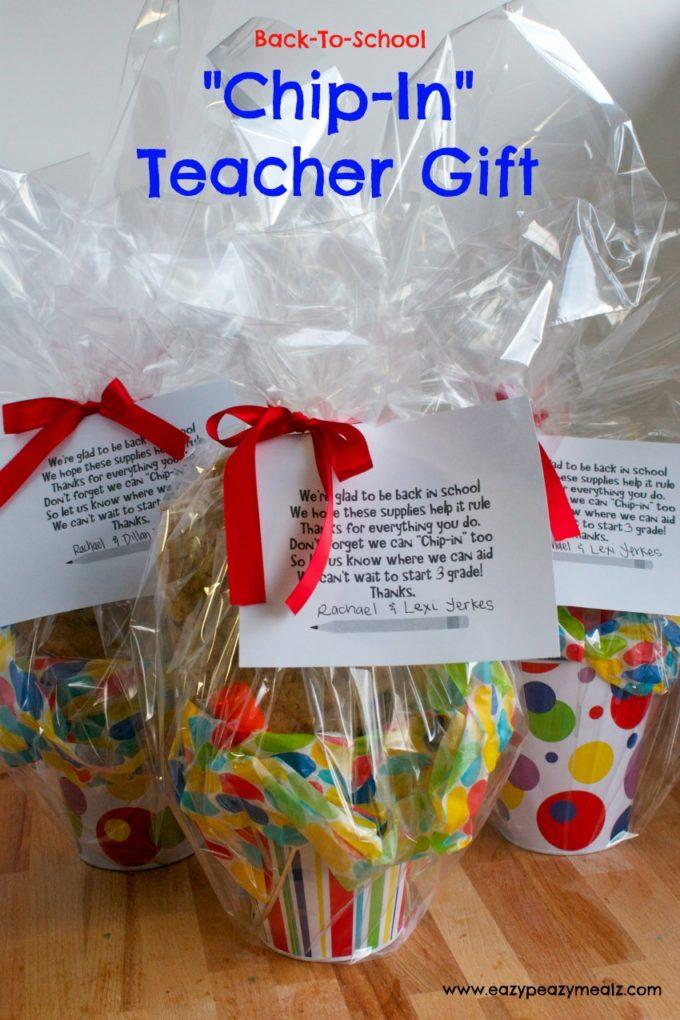 Chip In Teacher Gift