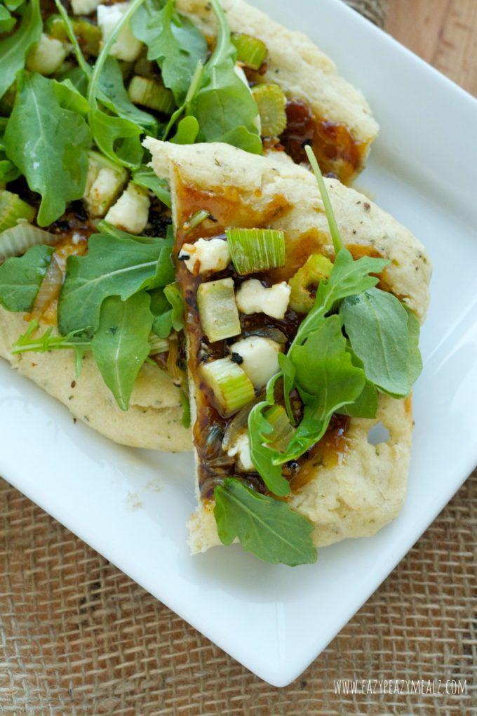 flat bread with garlic