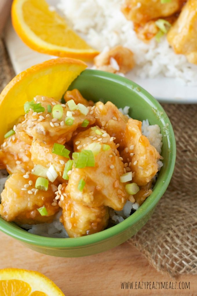 fried orange chicken