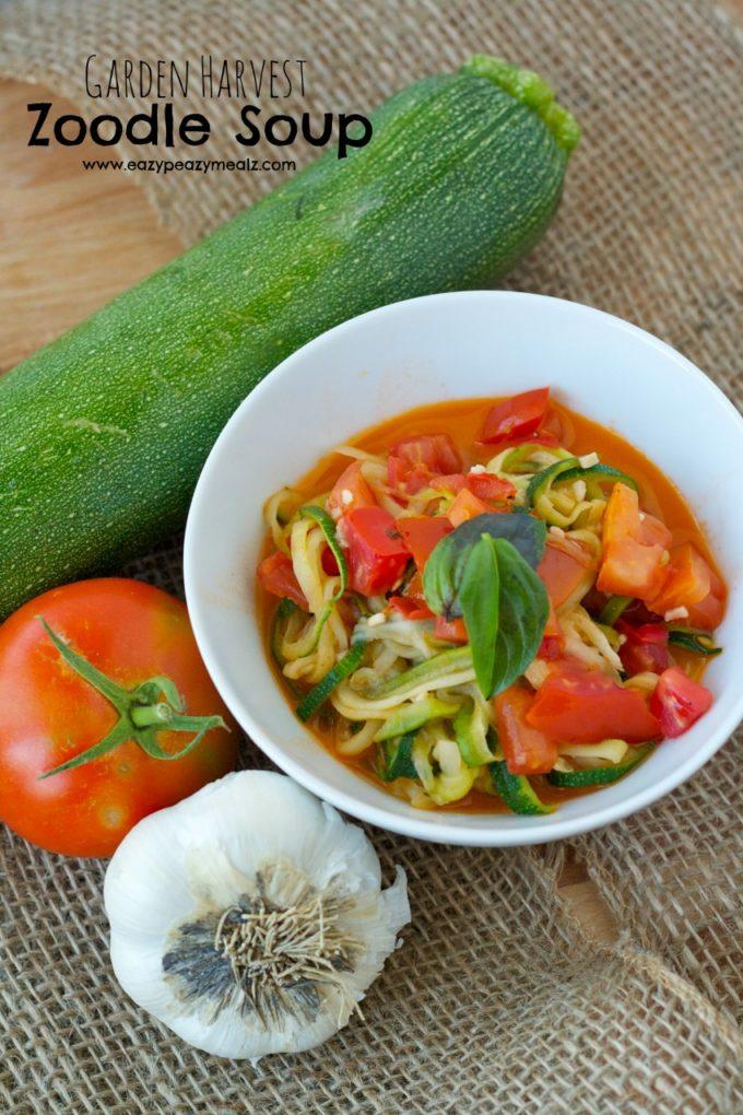 Garden Harvest Zoodle Soup Brieftons Spiral Slicer Giveaway