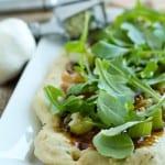 garlic balsamic fig flat bread
