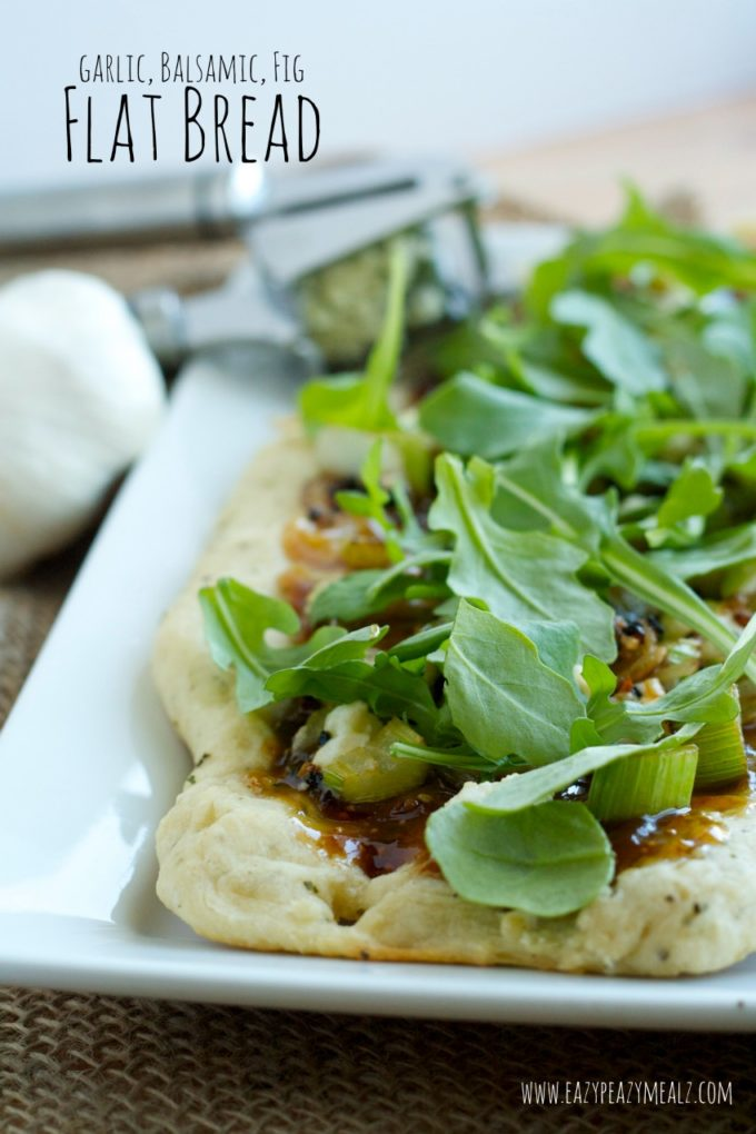 garlic balsamic fig flat bread