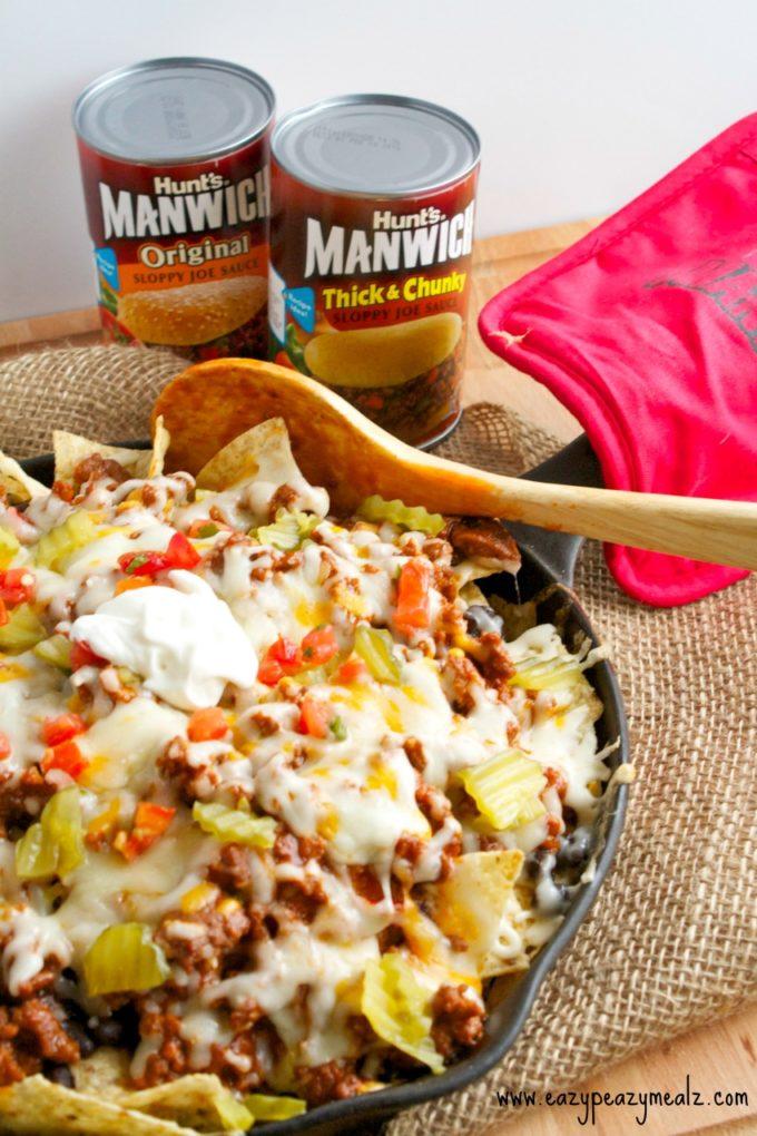 Manwich Sloppy Joe Nachos - Eazy Peazy Mealz