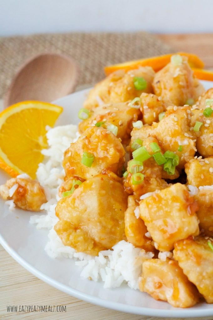 gluten free orange chicken with no sugar and light on calories