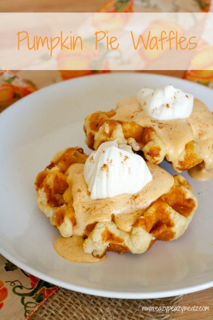 Pumpkin Pie Waffles - Eazy Peazy Mealz
