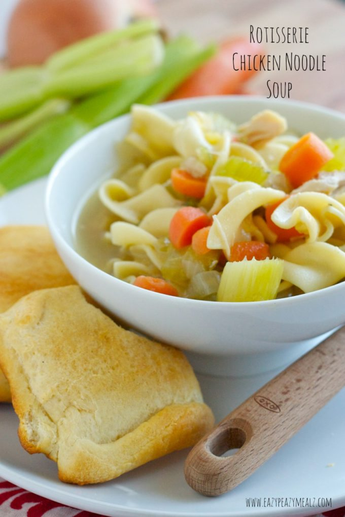 Easy Chicken Noodle Soup From A Leftover Roasted Chicken Recipe ...