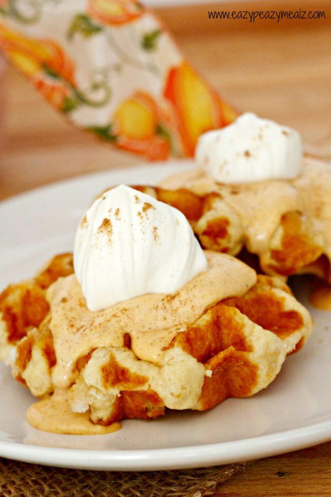 waffle pumpkin pie