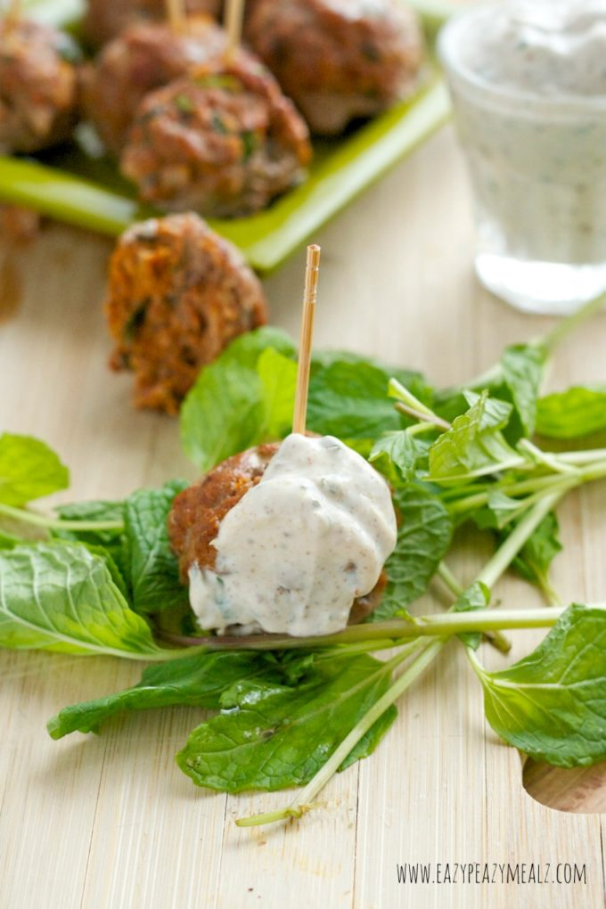 Lamb Meatballs With Yogurt And Pomegranate Seed Sauce Recipe ...
