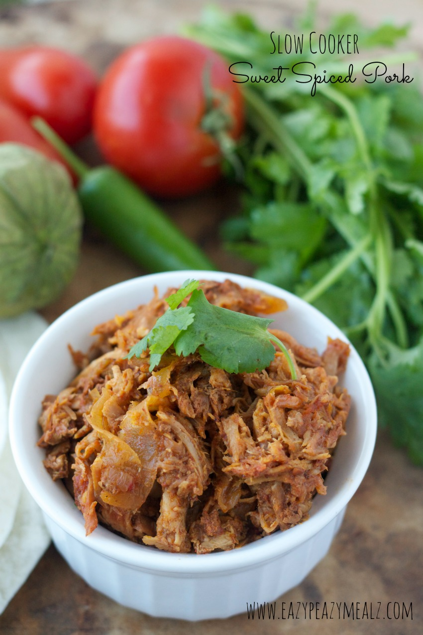 slow cooker sweet spiced pork