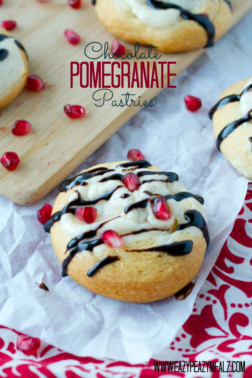 Chocolate Pomegranate Pastry #Breakfast #holiday