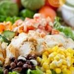 Southwest chicken salad #healthy #salad #chicken #sousvide #yummy