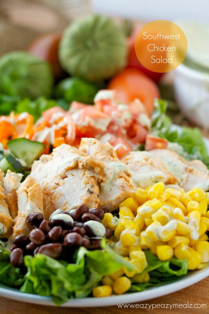 Southwest chicken salad #healthy #salad #chicken #sousvide #yummy