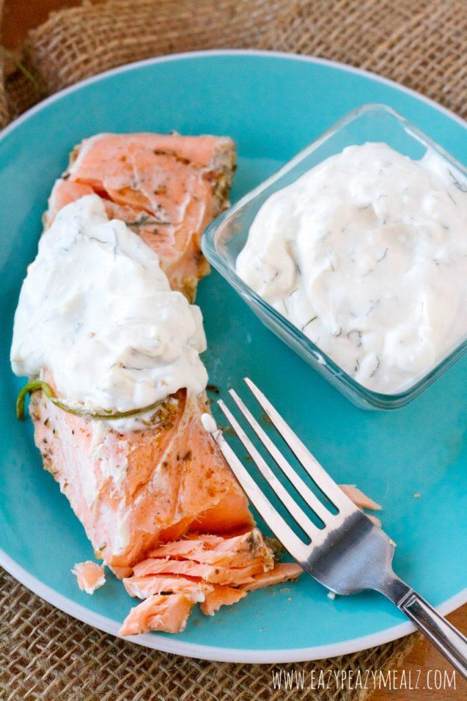 creamy salmon dill sauce