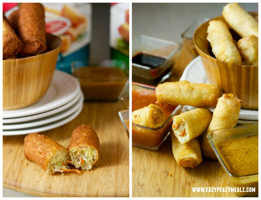 egg rolls and spring rolls #taipei