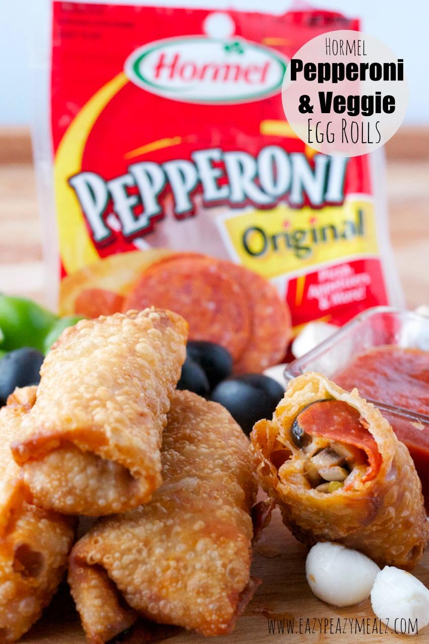 hormel pepperoni and veggie egg rolls #hormel