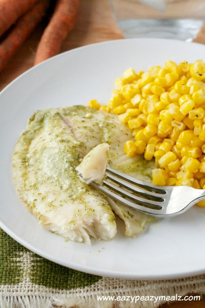 mint and creamy tilapia