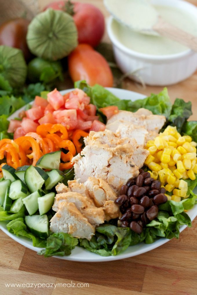 salad, southwest chicken #healthy #salad #texmexsalad