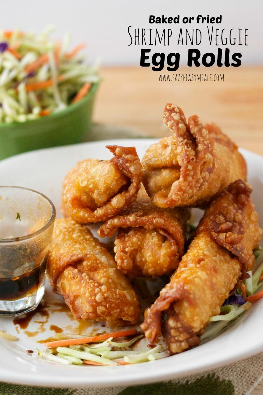 shrimp and veggie egg rolls #timetobelieve #butter