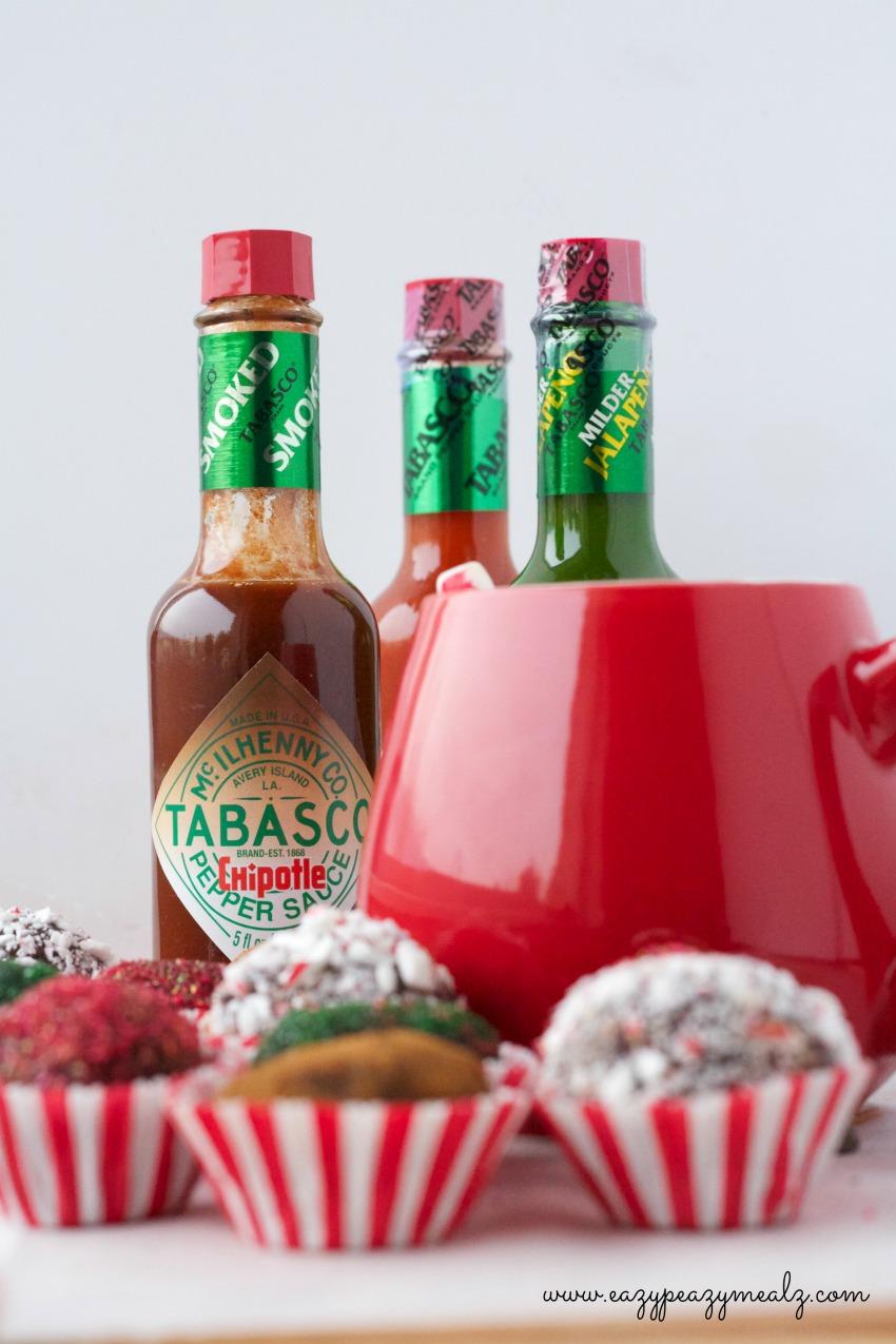 tabasco hot chocoalte truffle holiday party recipes! #seasonedgreetings