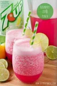 Raspberry 7UP® punch