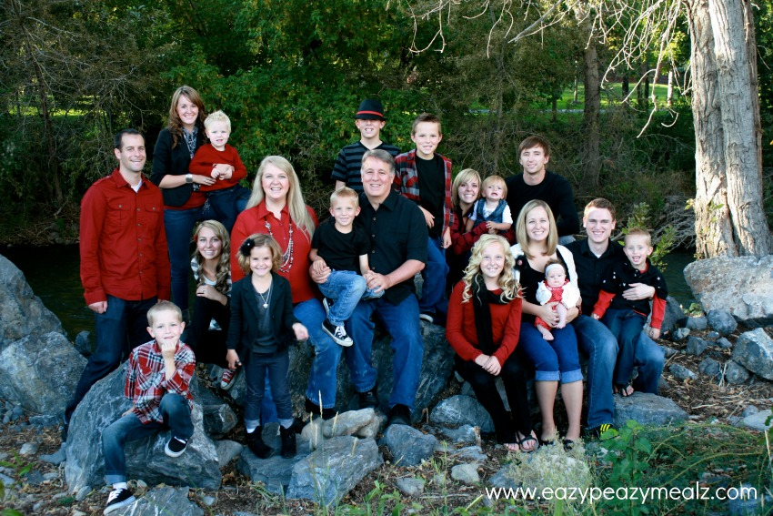 Several people are missing in this photo: 2 bro-in-laws, 1 sis-in-law, 1 sister, 1 brother, and several of the nieces and nephews