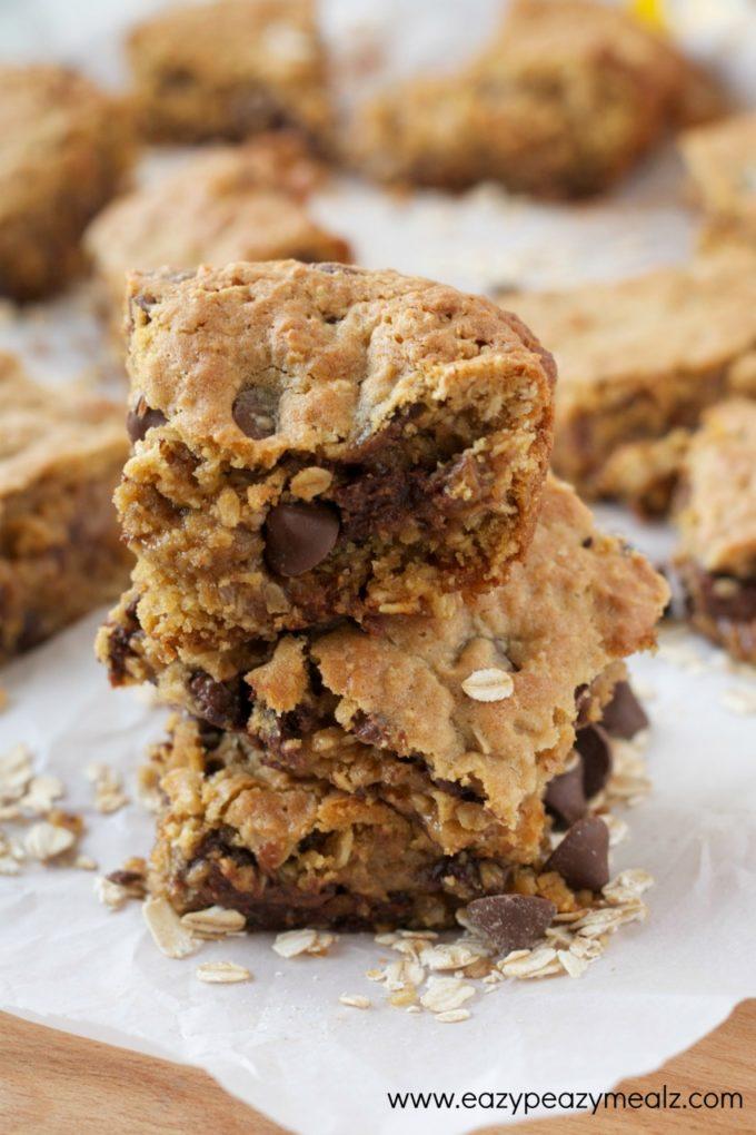 caramel chocolate oatmeal bars