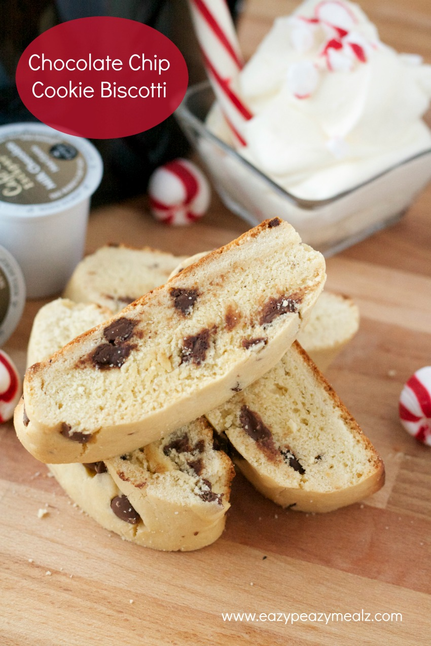chocolate chip cookie biscotti Chocolate Chip Cookie Biscotti