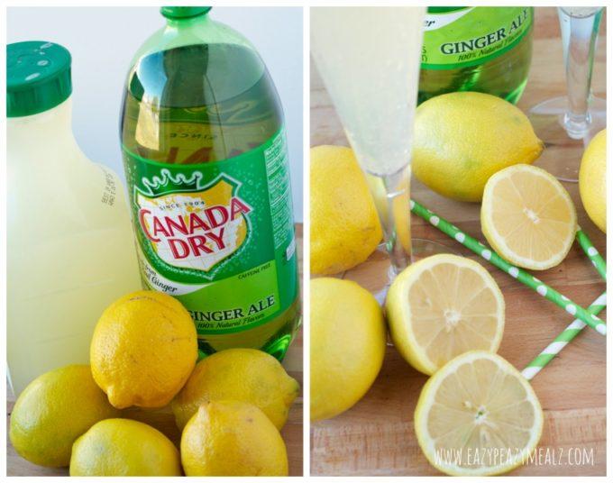 gingerale lemonade ingredients #gingerale #punch