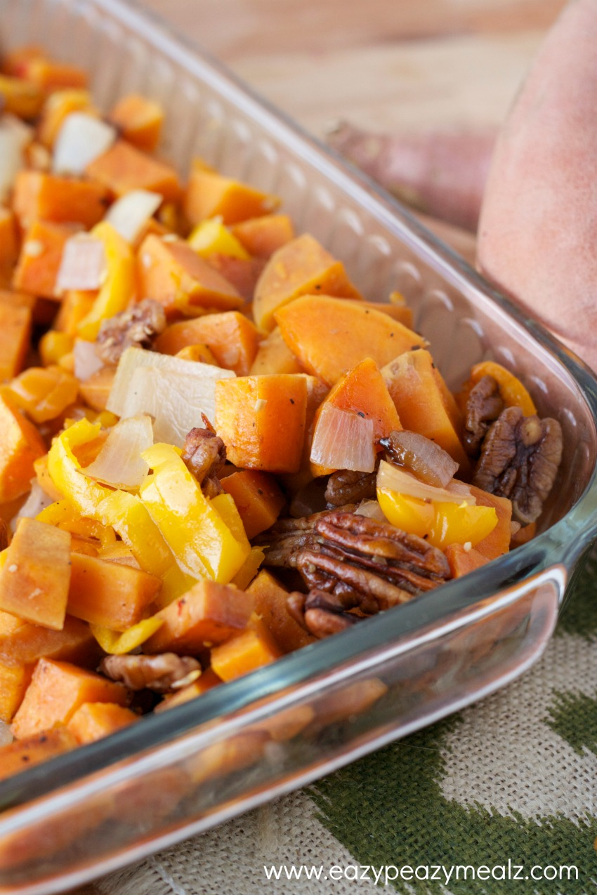 BBQ Pork, Qunioa, Sweet Potato Burritos - Eazy Peazy Mealz
