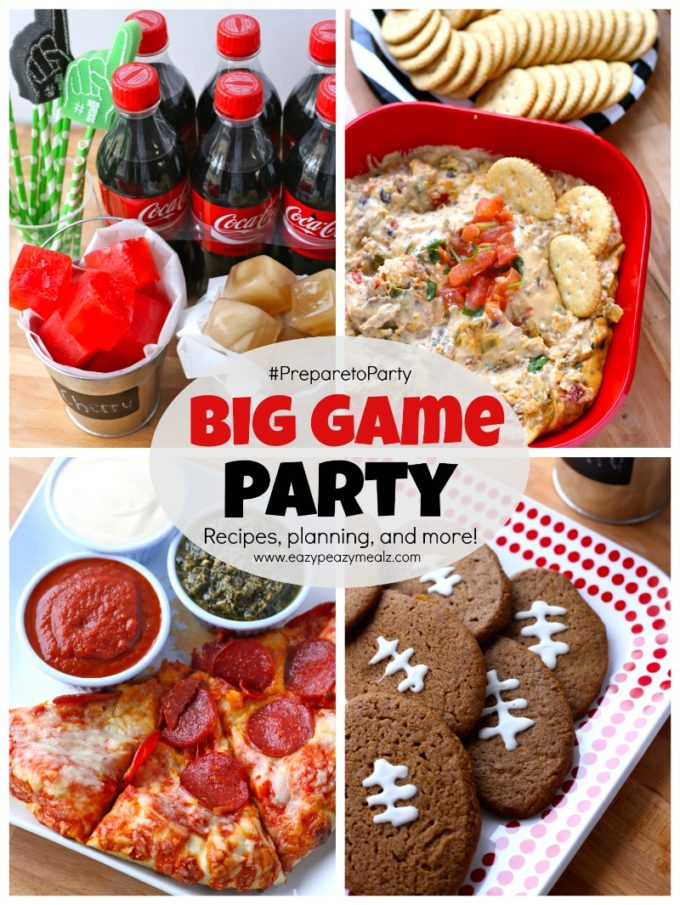 big game party recipes planning and more easy peasy meals