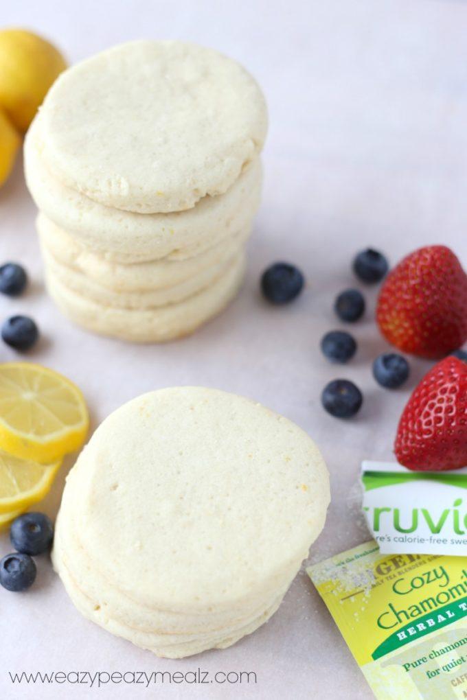 lemon blueberry acai shortbread cookies low sugar