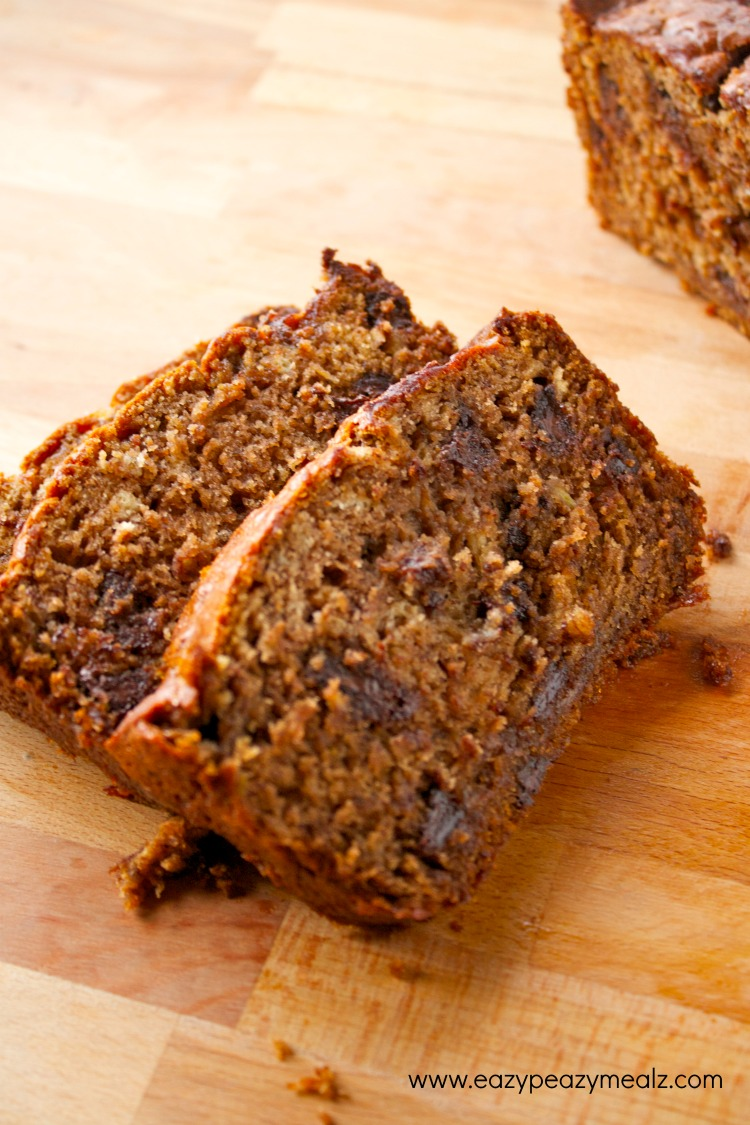 Chocolate Toffee Banana Bread - Eazy Peazy Mealz