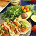 Flounder fish tacos